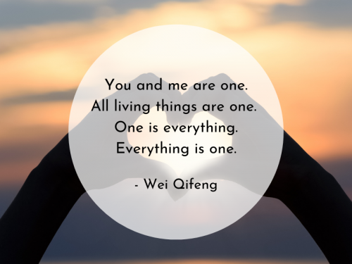 You and me are one. Wei Qifeng